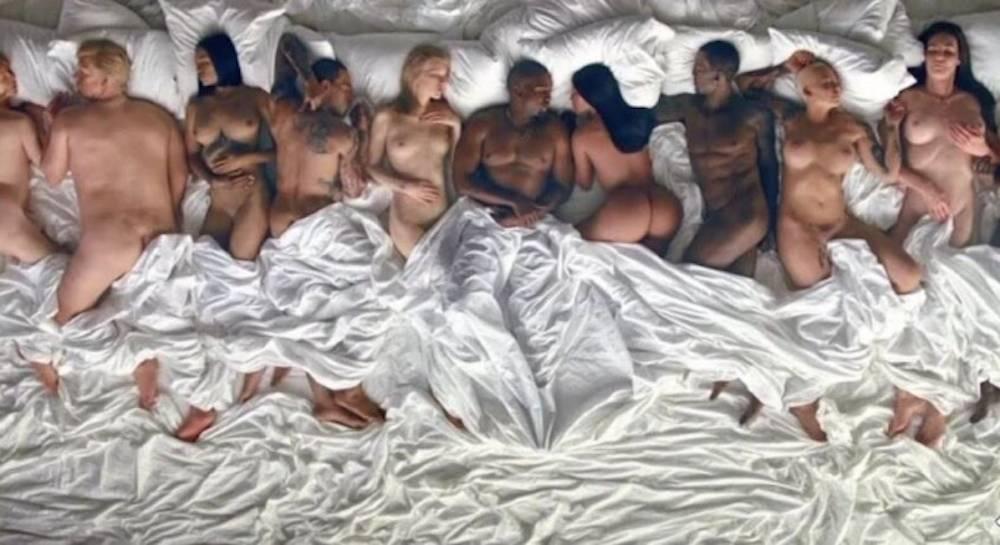 Kanye West lanza nuevo video con famosos desnudos