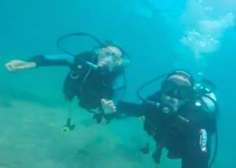 Sergio Ramos y Pilar Rubio: amor bajo el agua