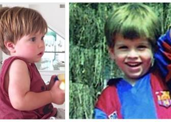 El increíble parecido entre Piqué y su hijo. ¡Clavados!