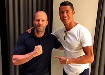 Cristiano Ronaldo sigue entre estrellas: ahora Jason Statham