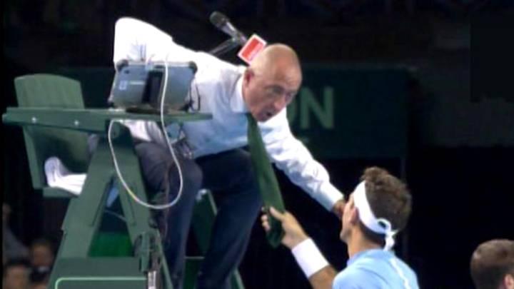 Del Potro tira de la corbata al juez de la Copa Davis
