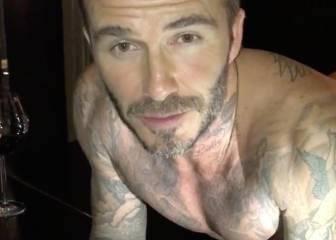 David Beckham hace flexiones sobre un piano por una buena causa