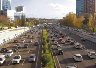 El tráfico en la operación retorno del puente de diciembre