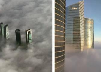 Las impresionantes imágenes de Madrid bajo la niebla