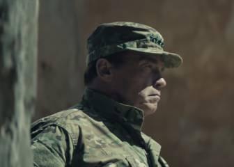 Arnold Schwarzenegger, a tiros en Belchite de Zaragoza