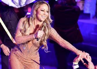 Mariah Carey la lía durante su actuación en Times Square