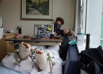 El 'youtuber' 8Booth se destroza las piernas en un temerario salto