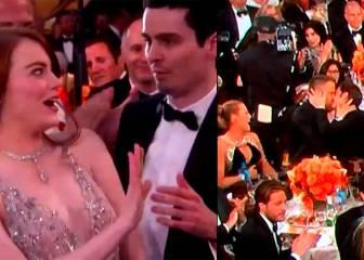 Globos de Oro: cobra a Emma Stone y beso de Ryan Reynolds