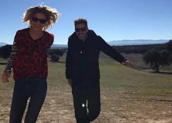 Simeone y Carla Pereyra celebran su aniversario en el campo