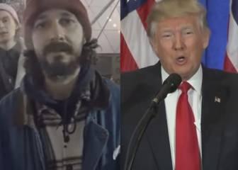 El actor Shia LaBeouf inicia una protesta de cuatro años contra Trump