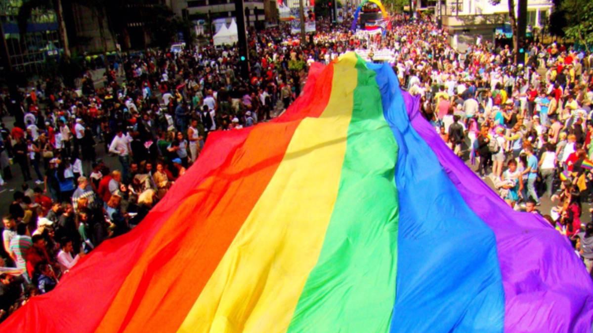 Imagen de la celebración del Orgullo Gay en Sao Paolo. Foto Twitter