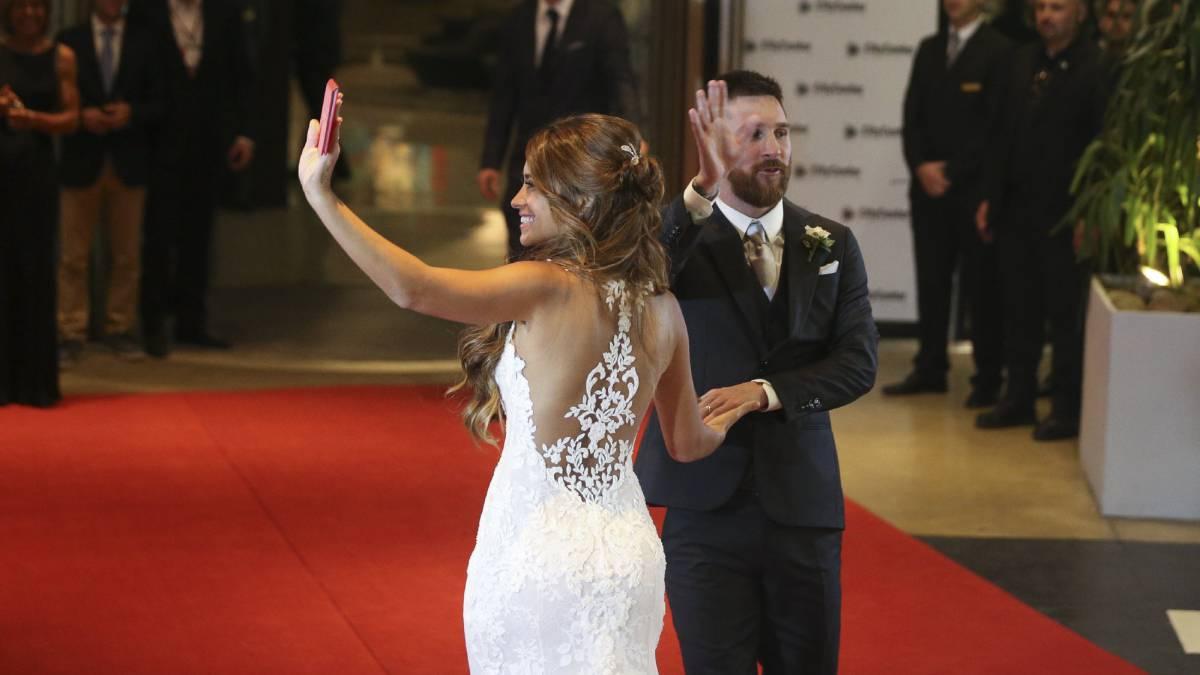 Vestido casamiento novia de messi