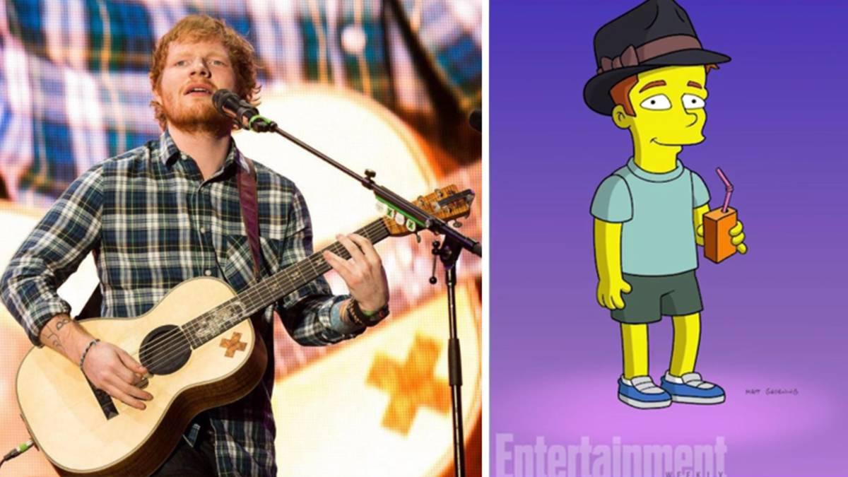 Ed Sheeran aparecerá en Los Simpson y así se ve su personaje