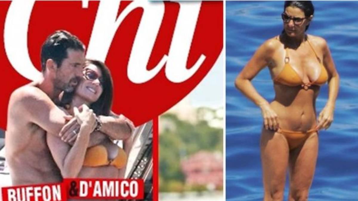 Sorprenden a Guianluigi Buffon en acaloradas vacaciones con su pareja
