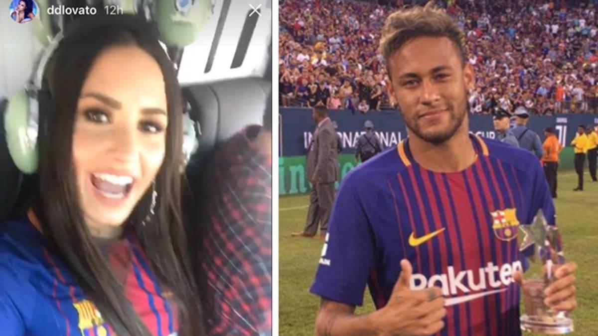 Demi Lovato presume su encuentro con Neymar entre rumores de romance