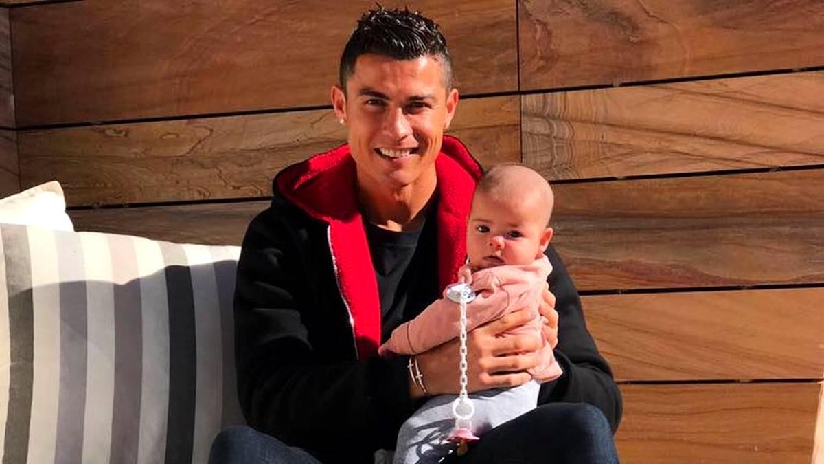Cristiano Ronaldo publicó la foto más tierna con su hija