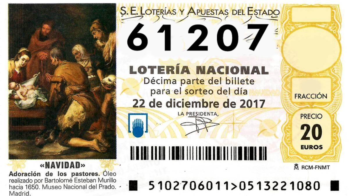 13.378 y 61.207, cuartos premios del Sorteo Lotería de Navidad - AS.com