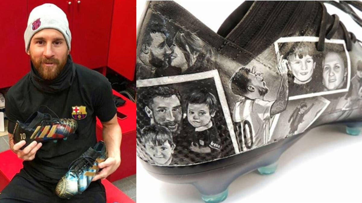 Diseñadora crea increíbles botines personalizados para Messi