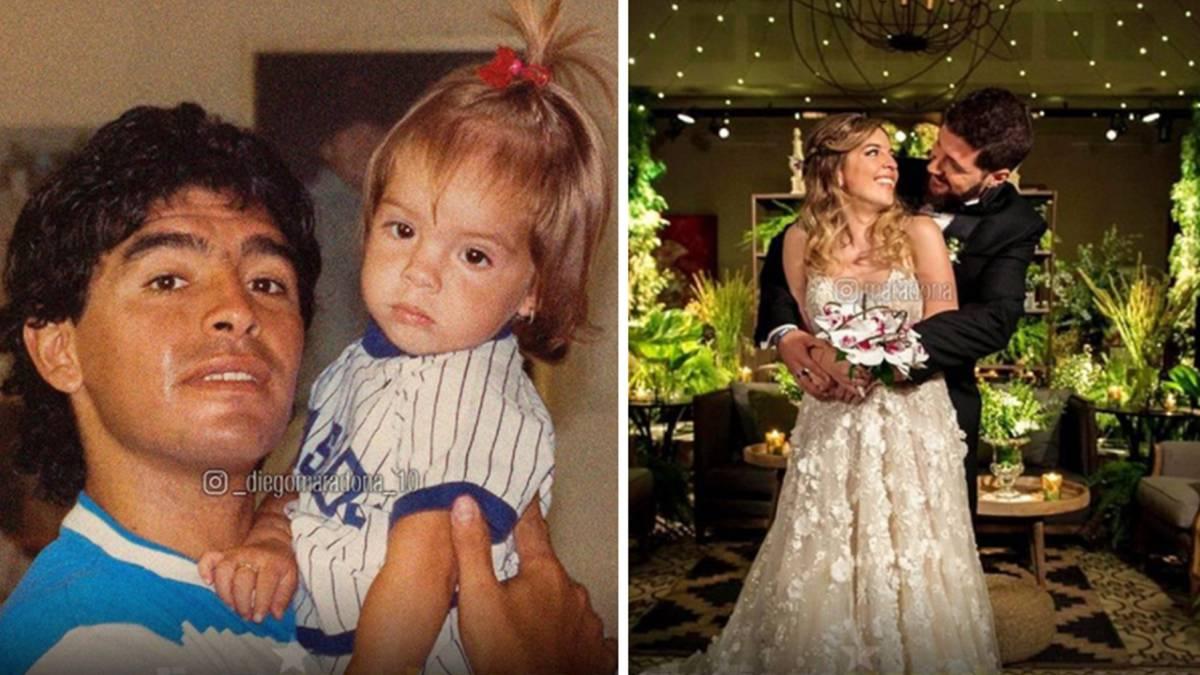 Fotos vestido de novia de dalma maradona