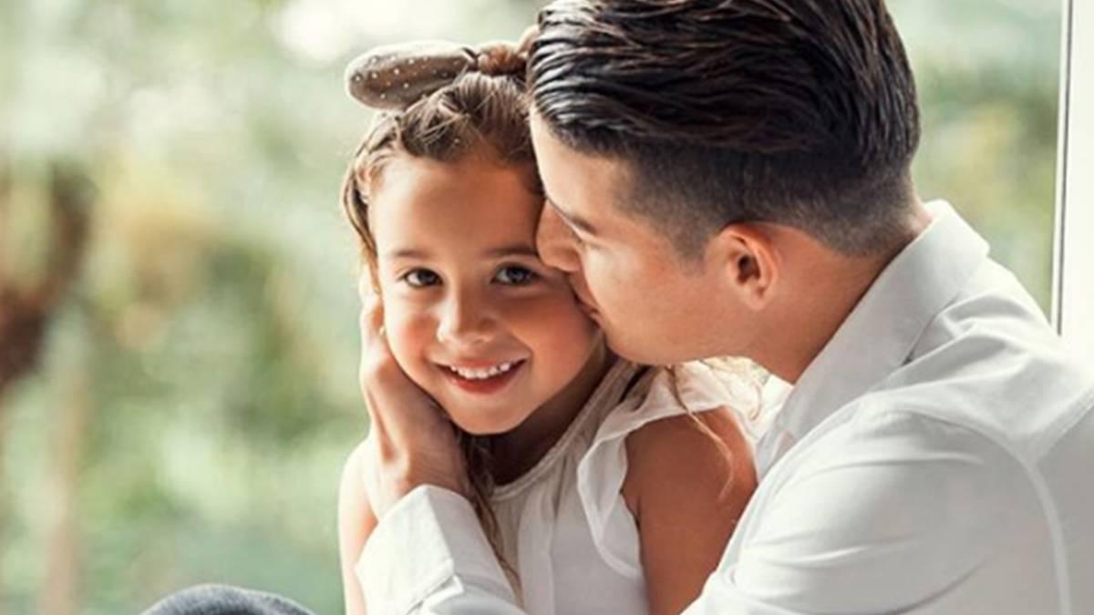 El emotivo mensaje de James a su hija en su cumpleaños