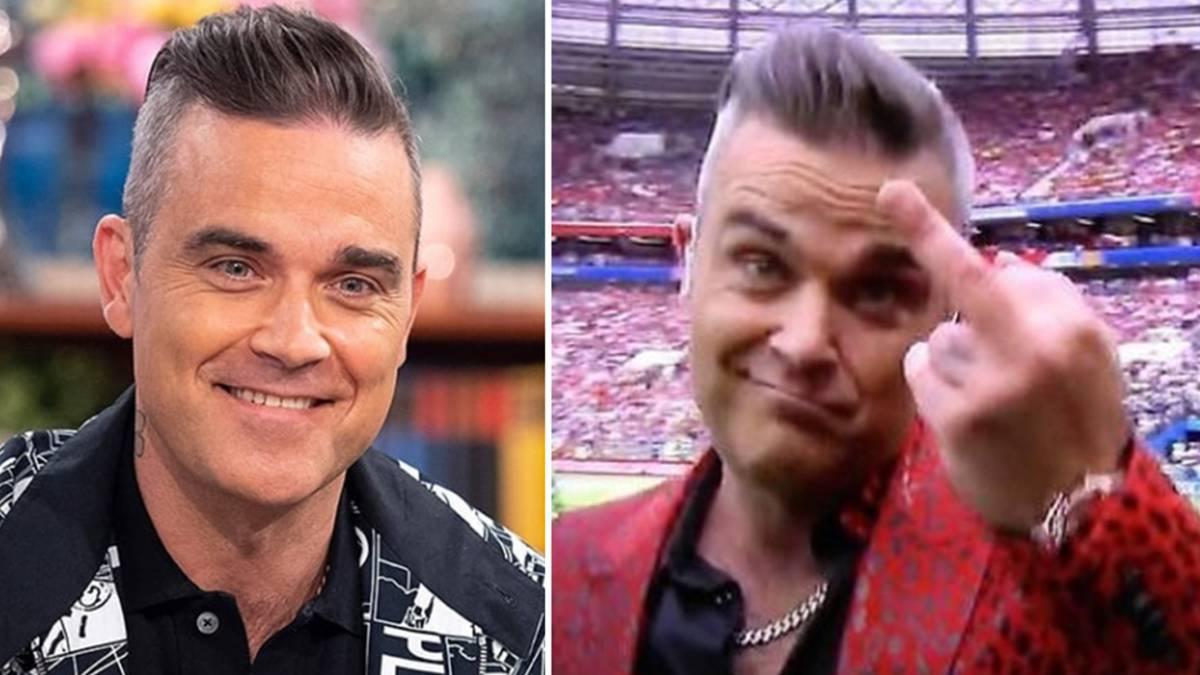 Robbie Williams explica su polémico gesto en la inauguración de Rusia 2018