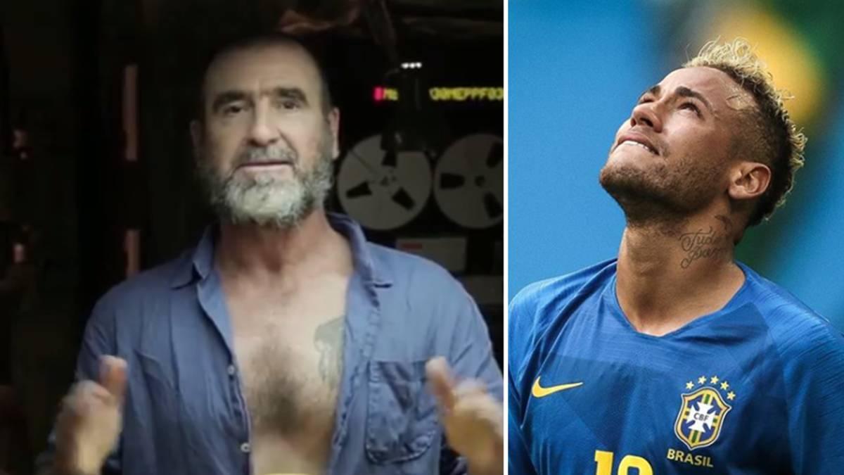 Imágenes de Eric Cantona en un vídeo de Instagram en el que se burla de  Neymar c7ce3833bce