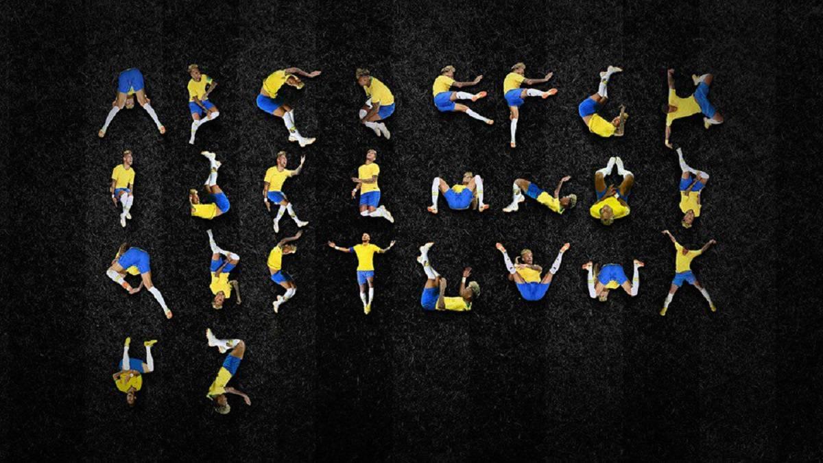Usuario crea el abecedario con caídas de Neymar