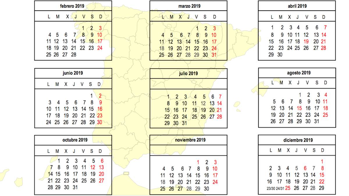 ed4068b5fc5 Calendario Laboral 2019  festivos y puentes - AS.com