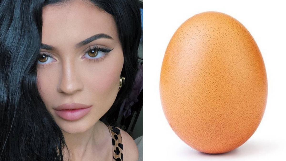 Kylie Jenner, la 'reina de Instagram', pierde su trono ante un huevo