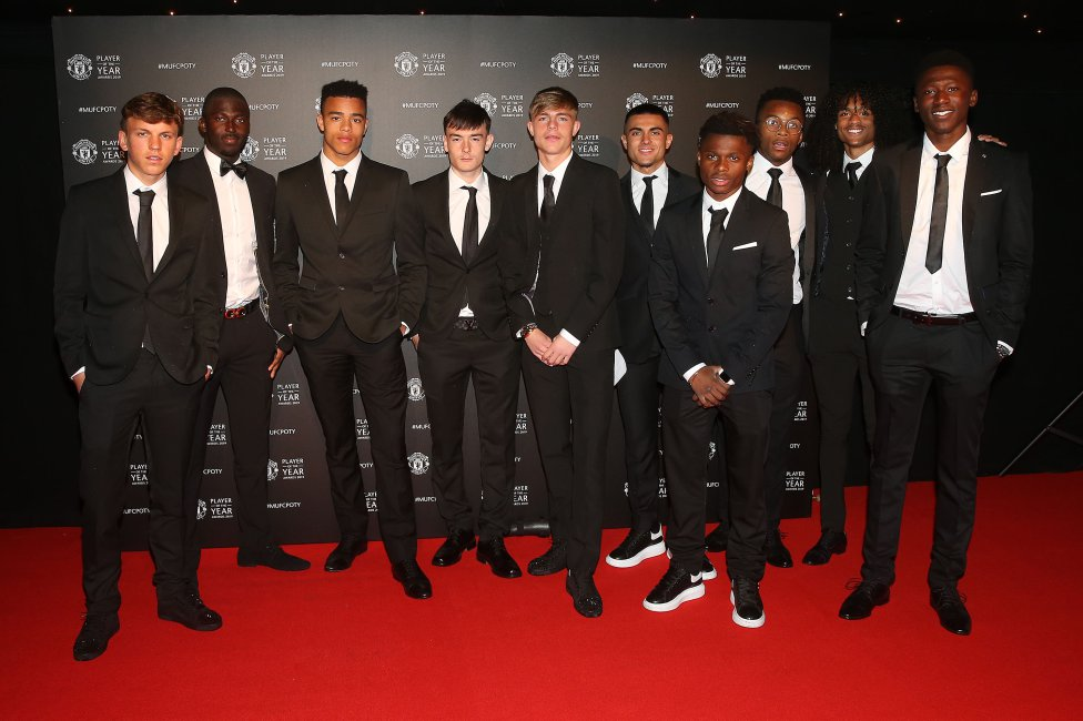 Imágenes de la  gala de entrega de premios anuales del Manchester United