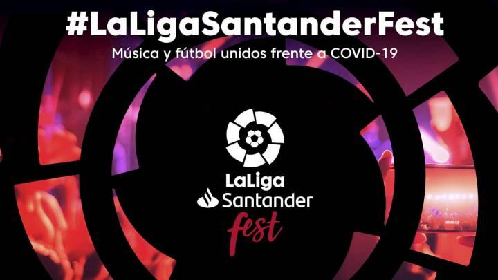 Artistas y futbolistas se unen en LaLiga Santander Fest