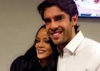 Kaká tuvo un emotivo encuentro con Rihanna
