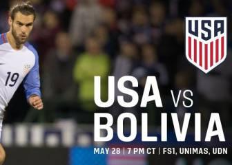 USA vs Bolivia en Vivo Online: Amistoso FIFA