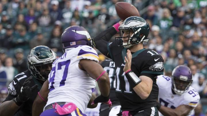 Unos grandes Eagles le roban la imbatibilidad a los Vikings