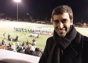Raúl, en la final de la NASL apoyando al New York Cosmos