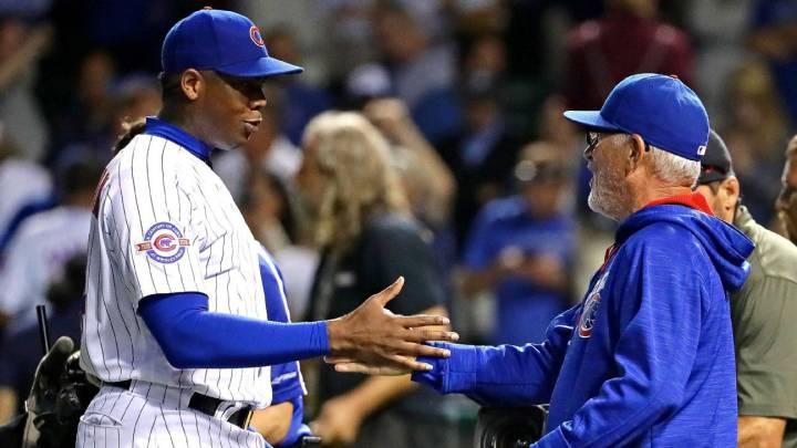 Aunque ya no estén ambos en los Chicago Cubs, tanto Aroldis Chapman como Joe Maddon han dado su opinión sobre el uso del cubano en playoffs.