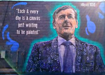 Craig Sager immortalized in a mural in Los Ángeles