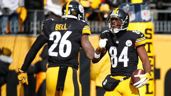 Antonio Brown y Le\'Veon Bell serán dos de los hombres a seguir en el duelo divisional que enfrenta a los Steelers a los Kansas City Chiefs.