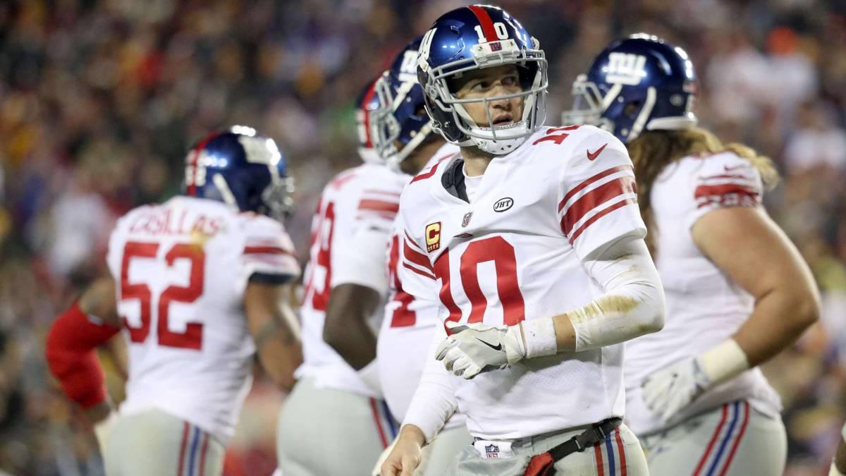 Giants envían a Eli Manning al banco y lo hacen llorar