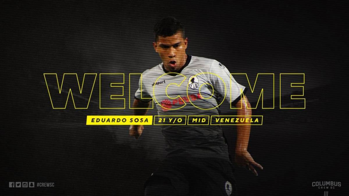 Criollo Eduardo Sosa jugará con el Columbus Crew de la MLS