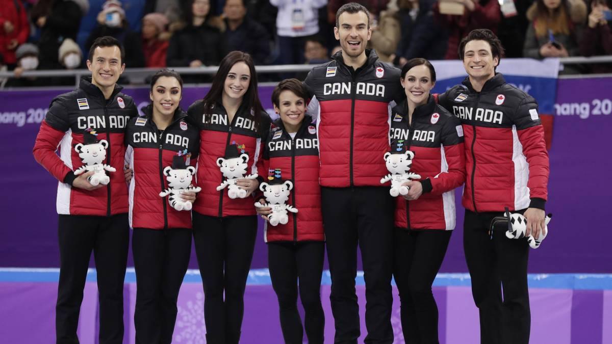 Canadá asegura oro en patinaje artístico por equipos