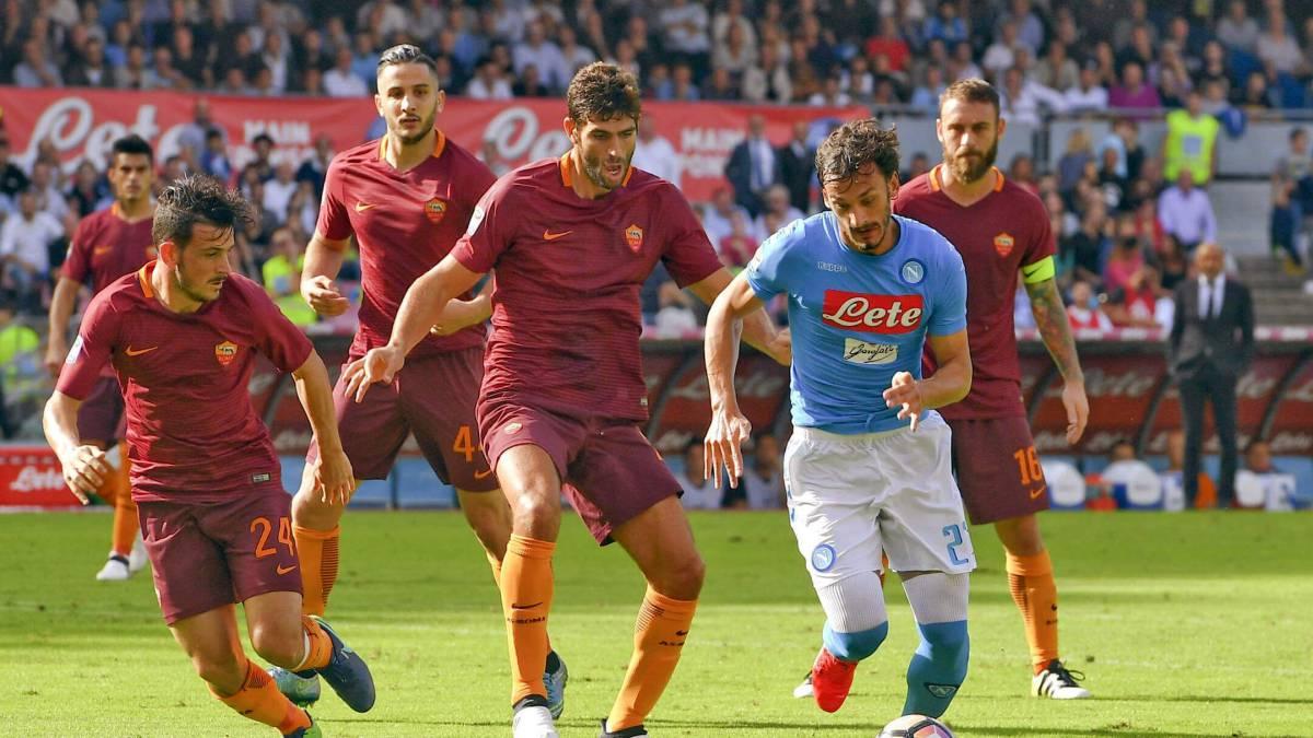 Napoli vs AS Roma, Serie A fecha 27 — Partido en vivo