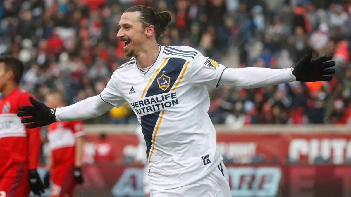 Zlatan Ibrahimovic en un juego con el LA Galaxy
