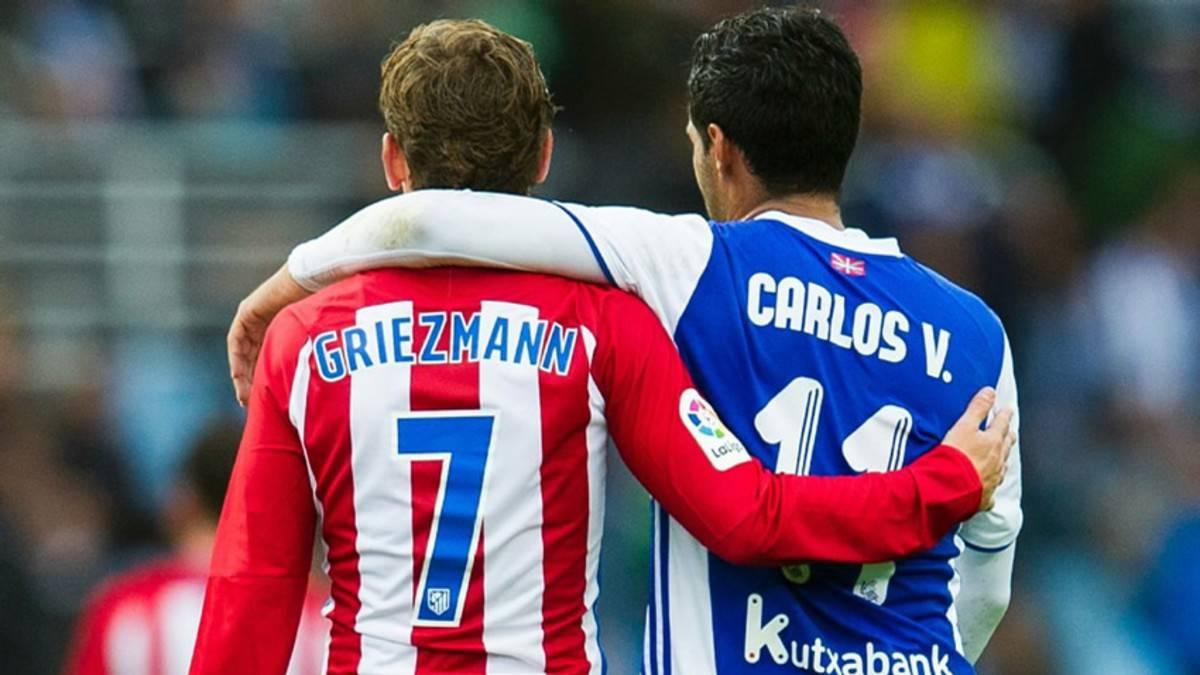 Griezmann se rindió a los pies de Carlos Vela