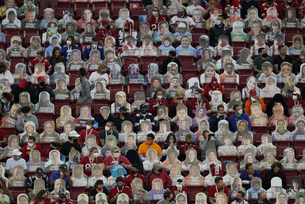 Gradas del Raymond James Stadium en el Super Bowl LV