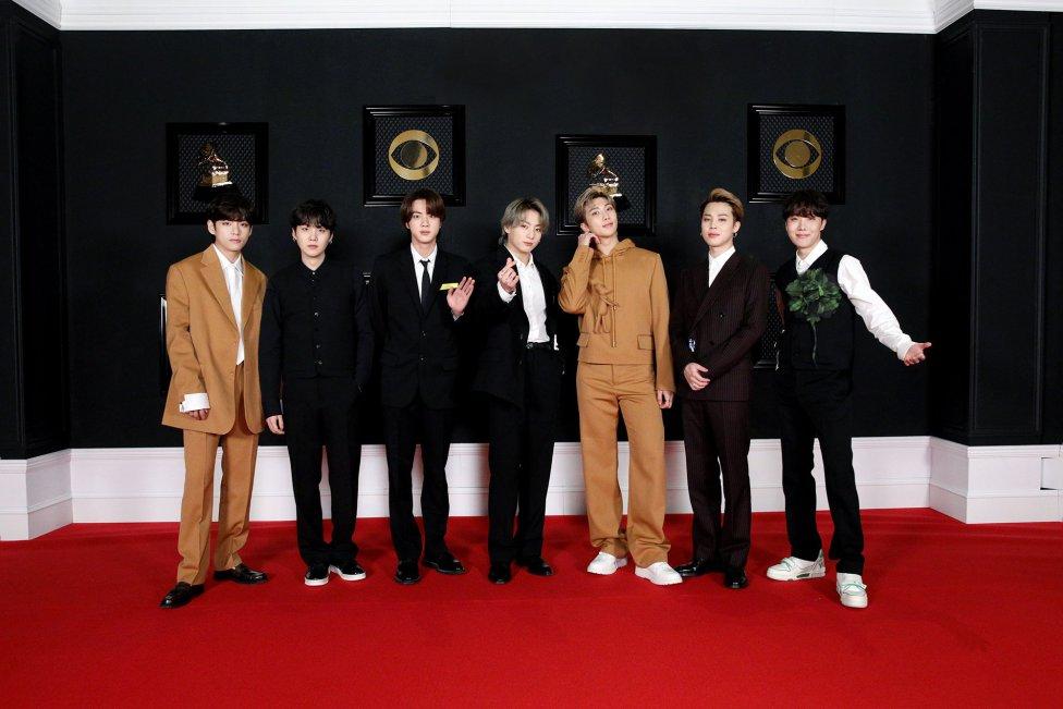Así es la alfombra roja de los Grammy 2021: De BTS a Harry Styles