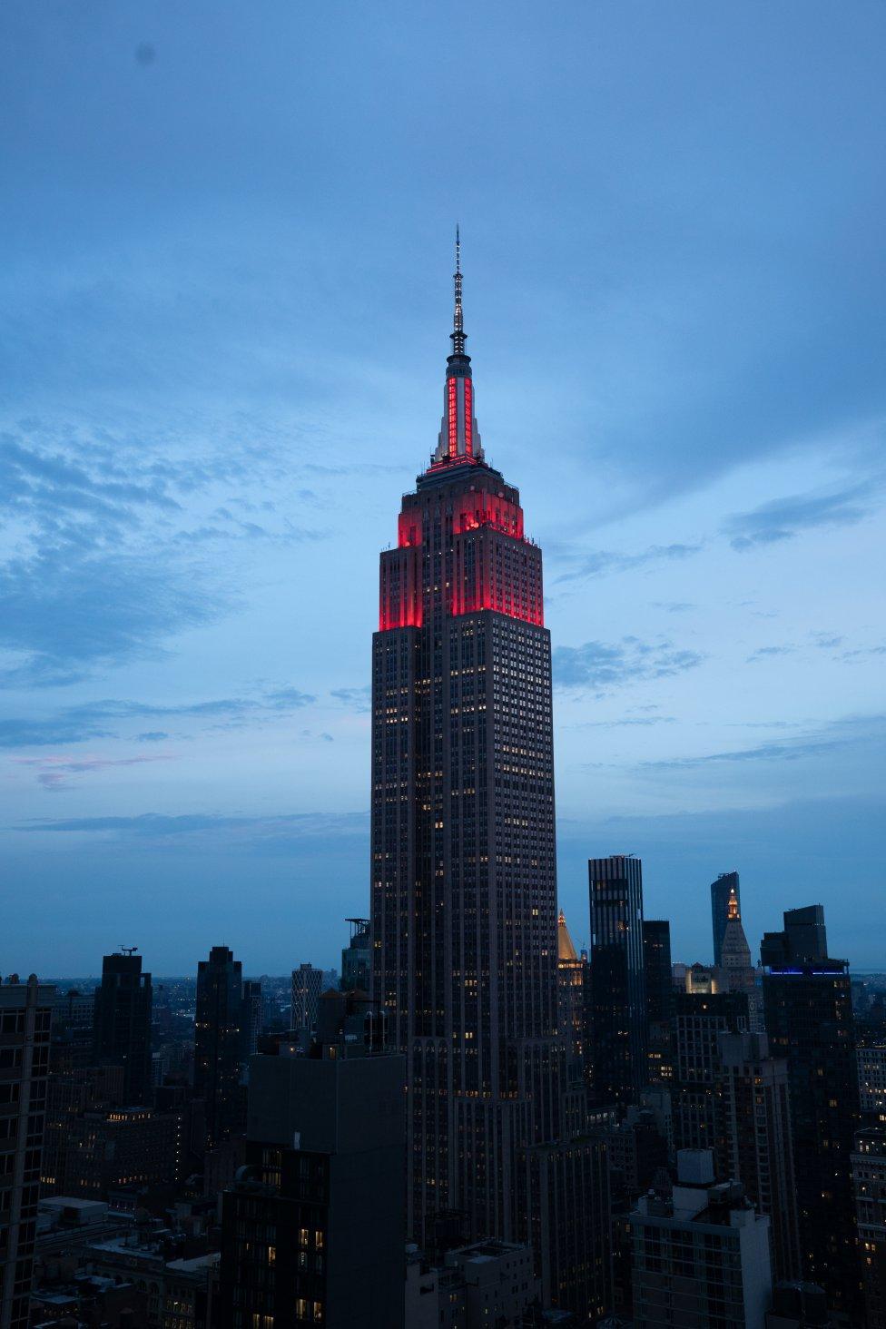 El Empire State se ilumina en homenaje a Bayern Munich