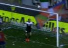Víctor Pérez rozó el que habría sido el mejor gol del año