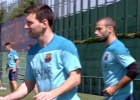 El Barcelona vuelve al trabajo con la visita sorpresa de Abidal