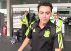 Silencio en la llegada de los internacionales del Barcelona